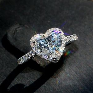 925 Silver Simulated Diamonds Ring